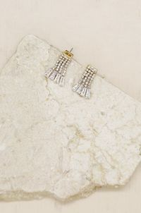Crystal Fringe Dangle Stud Earrings �'�43.65