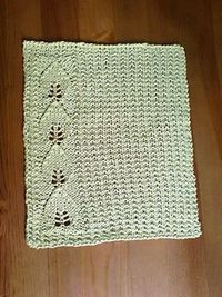 Ravelry Free Knit Pattern - Apple leaf dishcloth