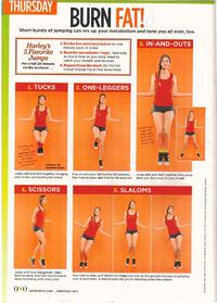 high intensity jumpropefor 25 min = 400 calories burned, low intensity = 270 calories burned...not bad for 25 min.s or you could run 3 miles for 380 calories burned. :) | See more about workout exercises, jump rope workout and cardio workouts.