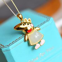 necklaces for women - S925 Silver Mouse Pendant - Gold Plated Necklace - Animal Necklace - amulet necklace - dainty necklace