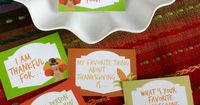 Thanksgiving Conversation Starters - Free Printable Thanksgiving Question Cards are a great way to share what we are thankful for at the thanksgiving table!
