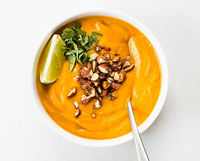 creamy thai carrot sweet potato soup