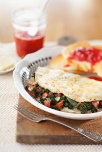 Egg White Omelets with Spinach and Tomato