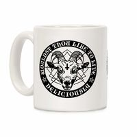 �œ� Handcrafted in USA! �œ� Support American Craftsmen. Woudst Thou Like To Live Deliciously Ceramic Coffee Mug $14.99