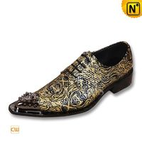 Printed Leather Dress Oxfords CW752234 - cwmalls.com