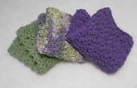 Simple single double dishcloth to crochet
