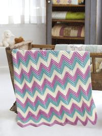 Single crochet chevron pattern. Also love these colors