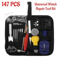 147Pcs Watch Repair Tools Kit Watchmaker Back Case Opener Spring Pin Bars Remover