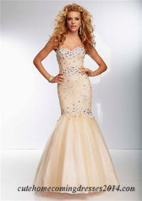 Beaded Lace Fitted Mori Lee 95039 Mermaid Prom Dresses 2015