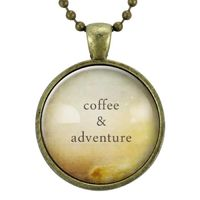 Coffee & Adventure Necklace $15.00