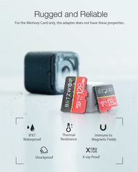 BlitzWolf®BW-TF1 Class 10 UHS-1 16GB 32GB UHS-3 V30 64GB 128GB Micro SD TF Memory Card with Adapter
