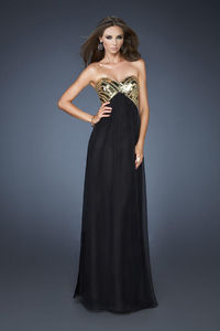 Tile-Topped Formal with Feather-Light Black Formal Skirt