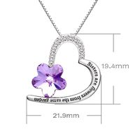 Swarovski Crystals Amethst Flower - Sisters are flowers from the same garden Necklace $16.00
