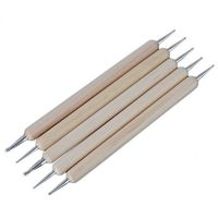 Pack of 5 Wooden Marbling, Dotting and Decorating Tools. Double Ended Rods. 10 Different Sizes. 13cm Long. For Nail Art and Rhinestone £4.09
