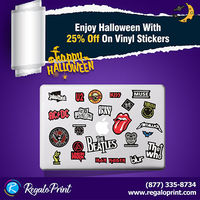 Enjoy Halloween with 25% off on vinyl stickers by RegaloPrint.jpg