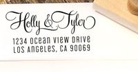 Custom Return Address Stamp with a curly by Designkandy on Etsy