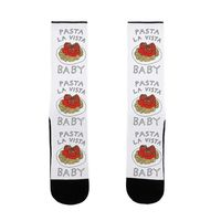 Pasta La Vista Baby US Size 7-13 Socks $17.99 �œ� Handcrafted in USA! �œ� Support American Artisans