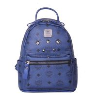 MCM Mini Stark Six Studded Backpack In Navy Blue
