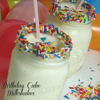 Birthday Cake Milkshakes-yes you can make them at home and it doesn't have to be on your Birthday! It's hard to believe I been writing this blog for a whole yea