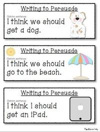 PERSUASIVE WRITING PROMPTS FOR BEGINNING WRITERS - TeachersPayTeachers.com