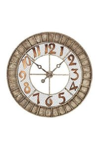 Round Metal Outdoor Wall Clock by Non Specific on