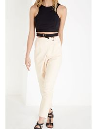 Sand Crossover D-Ring Peg Leg Trousers