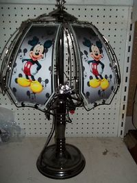 """"""" NEW """" CUSTOM MICKEY MOUSE 24"""" TOUCH LAMP AD on eBay!"""