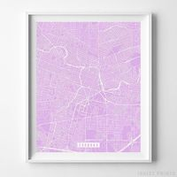 Cordoba, Argentina Street Map Vertical Print by Inkist Prints - Available at https://www.inkistprints.com