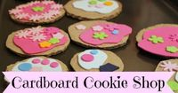 """""""Cardboard Cookie Shop - Green Owl Art"""" I'm going to set this up for Christmas cookies for when we bake the real ones. Love this!"""