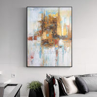Modern abstract painting on canvas art original art yellow painting large wall art Wall Pictures Home Decor Hand Painted cuadros abstractos $89.00