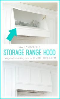 How to create a Custom Storage Range Hood via