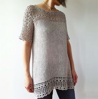 Ravelry: Julia - floral lace tunic pattern by Vicky Chan