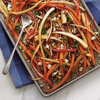 70 Spectacular Thanksgiving Sides | Balsamic-Roasted Carrots and Parsnips | SouthernLiving.com
