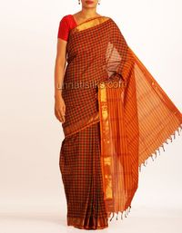online shopping for poly cotton sarees are available at www.unnatisilks.com