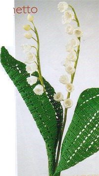 Lily of the valley, crochet. One of my favorite flowers.
