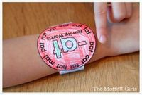 WEARABLE CVC Word Family Watches! Just print out the watch, color it, cut it and WEAR it! What a FUN way to practice simple CVC words!