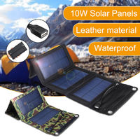 10W 5.5V Waterproof Portable Foldable Solar Panel Charger with USB Port