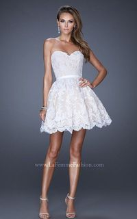 White Sweet 16 Party Dress