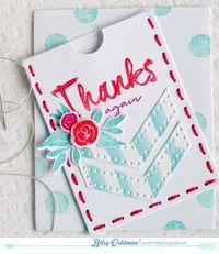 Thanks Again Pocket Card by Betsy Veldman for Papertrey Ink (July 2014)