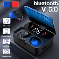 TWS Wireless bluetooth 5.0 Earphone 2000mAh Power Bank Smart Touch Dual LED Display Headphone with Charging Box