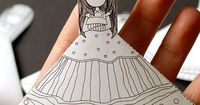Printable bookmarks - girl with dress to color, dresses. These are adorable for young readers!