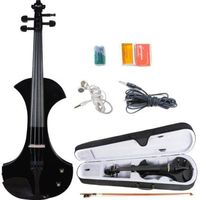 ADM 4/4 Full Size Black Electric/Silent Violin Outfit