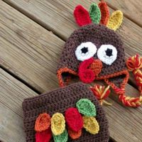 crochet turkey hat and diaper cover + 7 more ideas