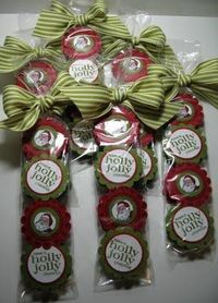 Darling Christmas treat bags - York Peppermint patties