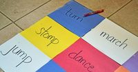 Fun with action words. site word practice and exercise. simple fun ;)