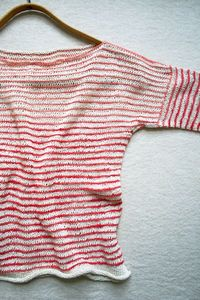 Laura's Loop: Striped SummerShirt - The Purl Bee - Knitting Crochet Sewing Embroidery Crafts Patterns and Ideas!