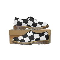 Black White Chess Board Women's Wholecut Dress Shoes
