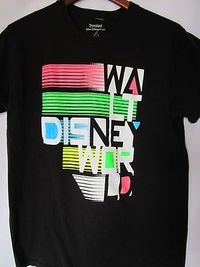 Walt Disney World Men Size L Women XL Shirt. This totally reminds me of Future World in Epcot!