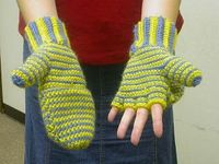 Crocheted Mittens / Fingerless Gloves - Tutorial � 4U // hf