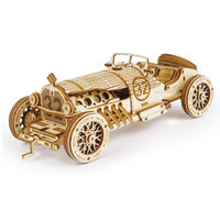 3D Grand Prix Car Wooden Puzzle, Assembly Toy,Gift for Children $42.80
